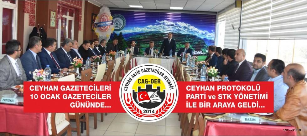 10 Ocak GAZETECİLER GÜNÜ Ceyhan'da Kutlandı...