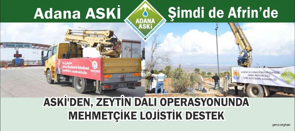 Adana Aski Mehmetçiğe Lojistik Destek Sağlıyor