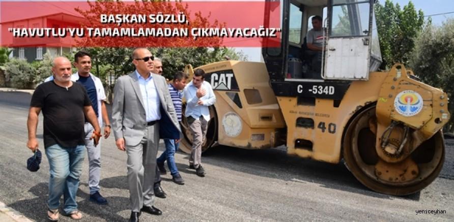 Başkan Sözlü'den Havutlu'da yerinde inceleme