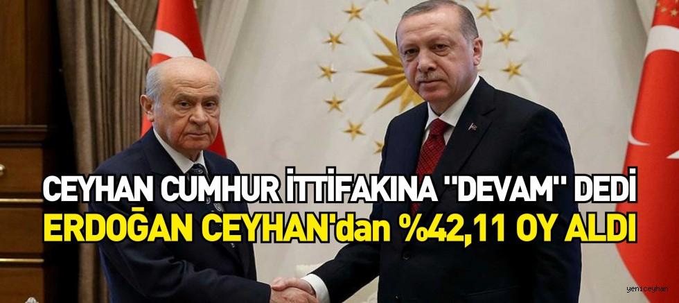 Ceyhan CUMHUR İTTİFAKI'NA DEVAM dedi...