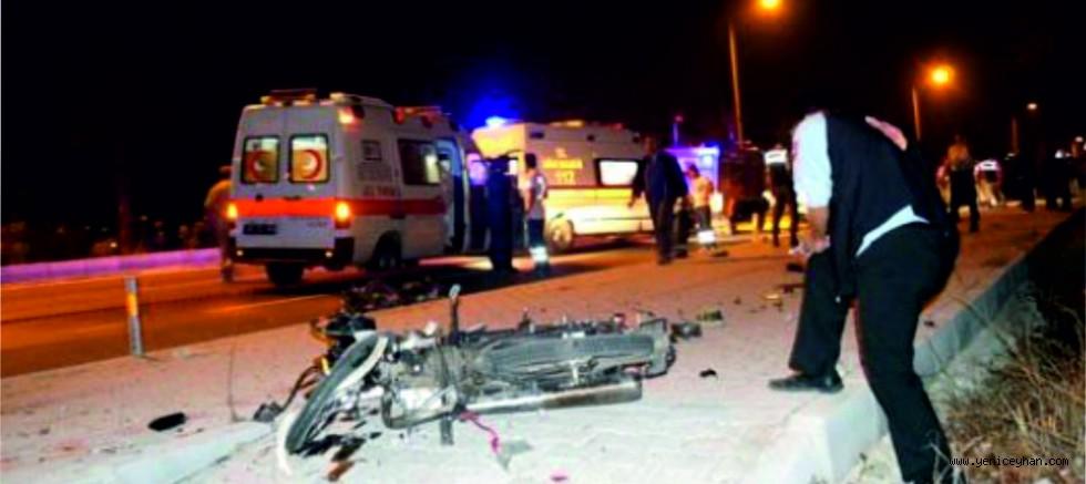 Ceyhan'da Motosiklet Kazası