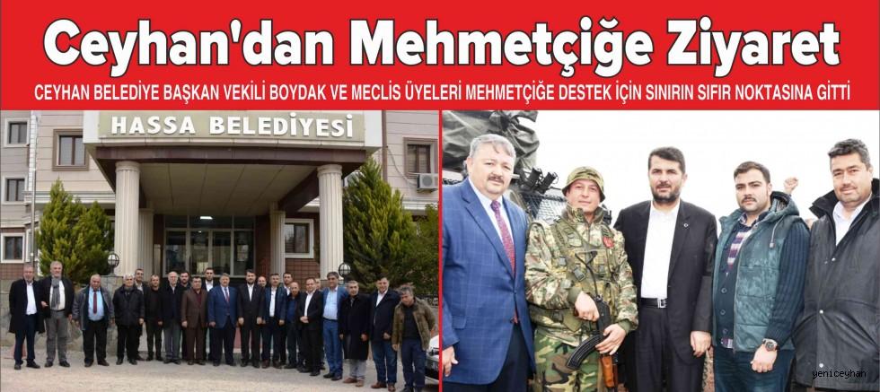 Ceyhan'dan Mehmetçiğe Ziyaret