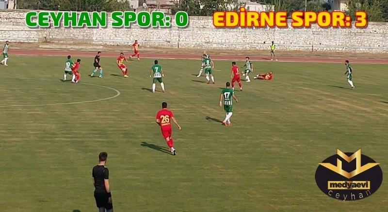 Ceyhan Spor Kendi Sahasında Mağlup: 0-3