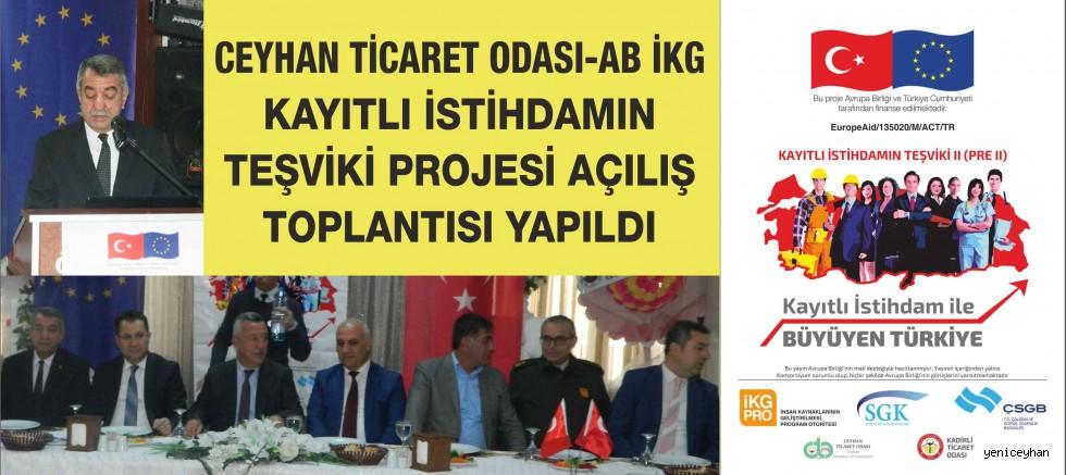 Ceyhan Ticaret Odası'ndan İstihdama Teşvik Projesi Tanıtım Toplantısı