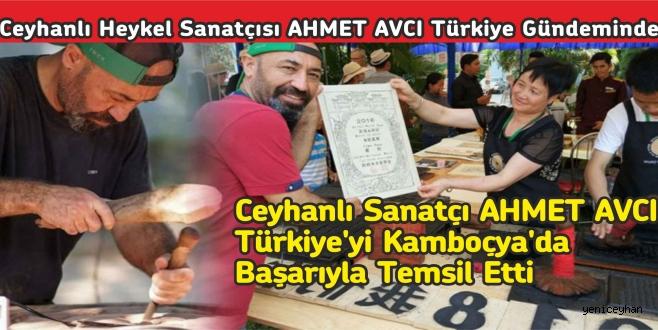 CEYHANLI HEYKEL SANATÇISI AHMET AVCI ,TÜRKİYE'Yİ KAMBOÇYA'da BAŞARIYLA TEMSİL ETTİ...