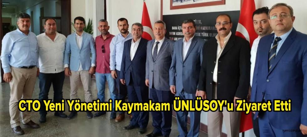 CTO Yeni Yönetimi Kaymakam Ulusoy'u Ziyaret Ett.
