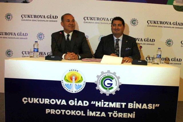Çukurova Giad ile Büyükşehir Hizmet Binası Yer Tahsis Protokolünü İmzaladı
