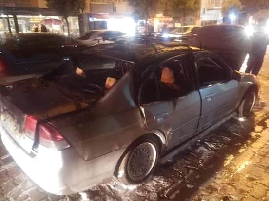 Lpg'li Araç Alev Aldı: 1 Yaralı