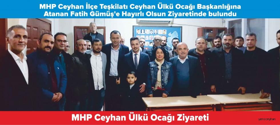 MHP İlçe Teşkilatından Ceyhan Ülkü Ocağına Hayırlı Olsun Ziyareti
