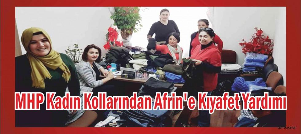 MHP KADIN KOLLARINDAN AFRİN'e GİYSİ YARDIMI