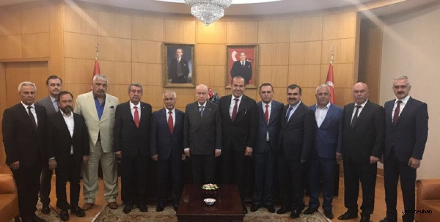 MHP'li belediye başkanlarından Lider Bahçeli'ye hizmet brifingi