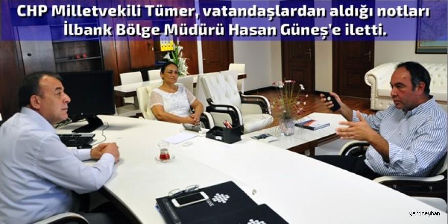 Tümer, İlbank'ın projeleriyle ilgili bilgi aldı