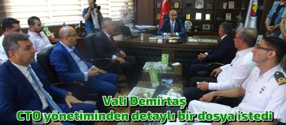 VALİ DEMİRTAŞ'DAN CTO'YA ZİYARET